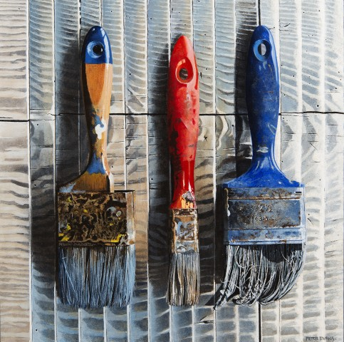Peter Evans, 3 Old Paint Brushes