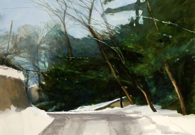David Prentice, Black Ice, Herefordshire Lane, 2010