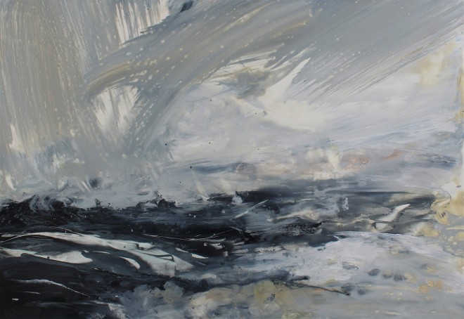 Janette Kerr Hon RSA PPRWA, Aerial Manoeuvres, Brindister, Shetland