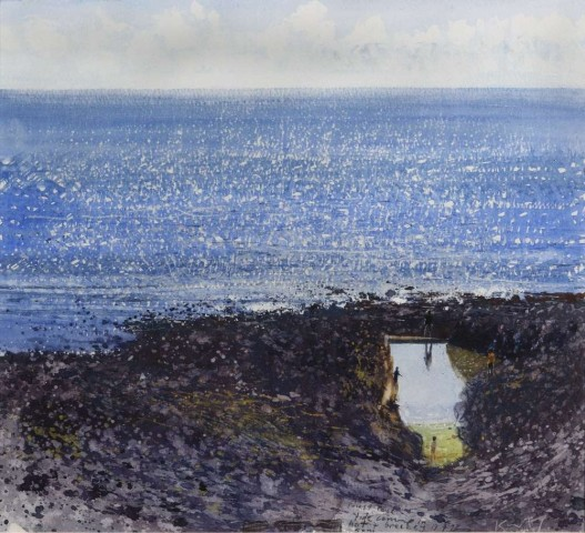 Kurt Jackson, Tide is coming in, hot and breezy 5pm