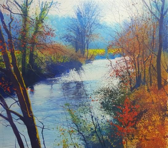 Richard Thorn SWAc, Light haze on the Teign