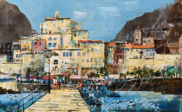 Mike Bernard R.I., Amalfi from the Jetty