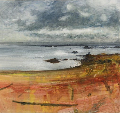Kurt Jackson, Sitting on top of Samson Hill, Bryher, the sun comes and goes