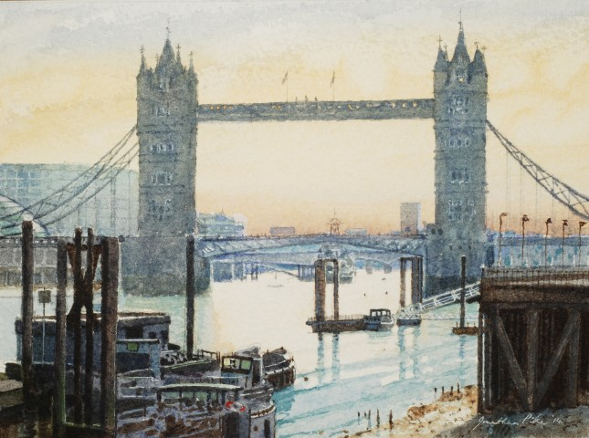 Jonathan Pike, Tower Bridge from Wapping