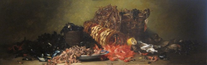 Denis Pierre Bergeret, Still life with seafood