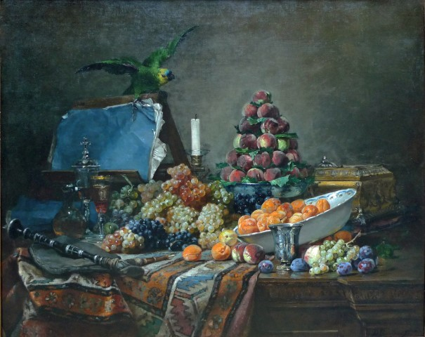 Still life with Parakeet
