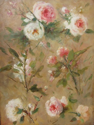 Eugene Henri Cauchois, Study of roses