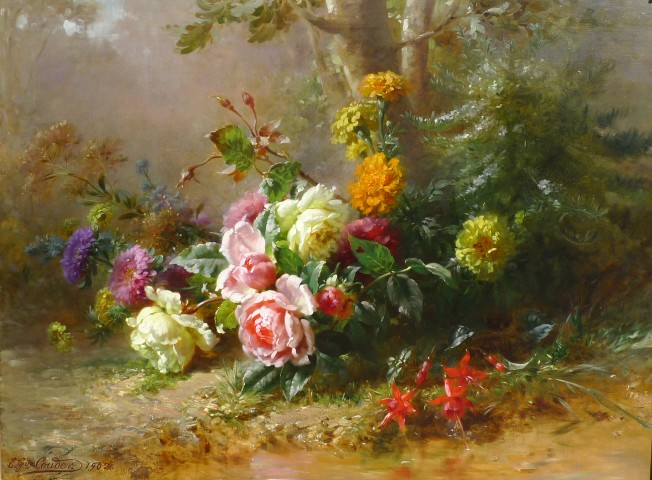 Émile-Gustave Couder, Mixed summer flowers
