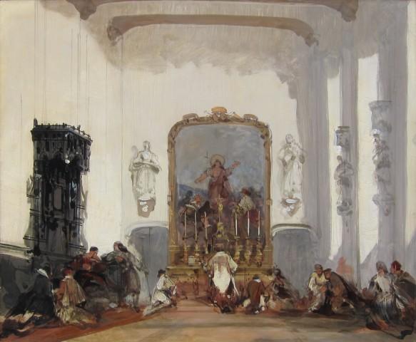 David Roberts RA, A Continental Church Interior