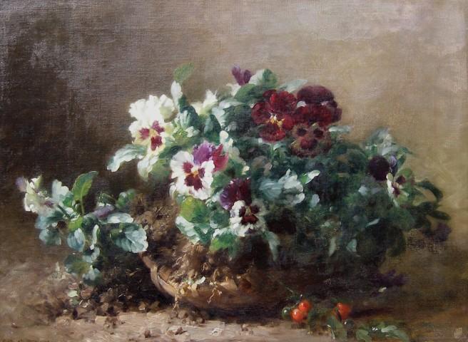 Émile-Gustave Couder , Bourriche de Pensees