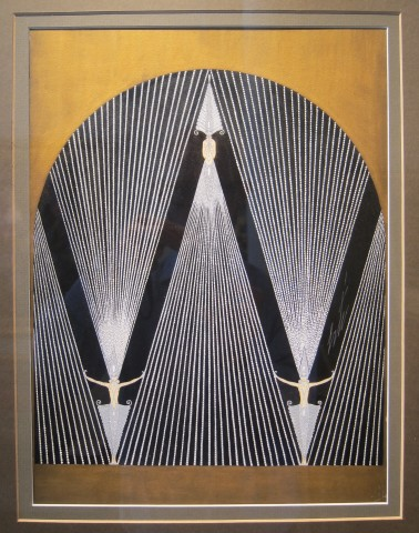 Roman de Tirtoff 'Erté', Diamond Curtain for 'The Treasures', George White's Scandals, New York, 1925