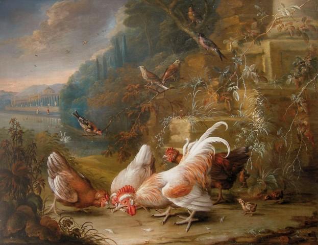 George William Sartorius, Birds and Fowl in a Landscape
