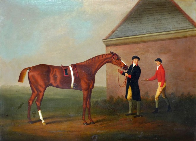 Eclipse and his trainer and jockey, Jack Oakley