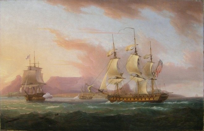 Thomas Whitcombe, Naval ships off Cape Town