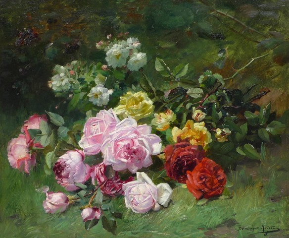 Dominic Rozier, Still life of roses