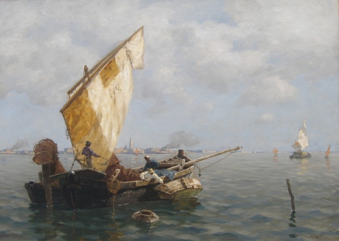 Ludwig Dill, Fisherman in Venice