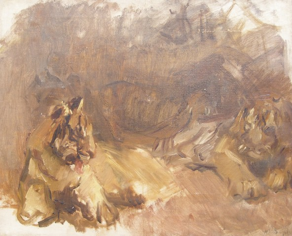 Max Slevogt, Study of Lions , c.1907