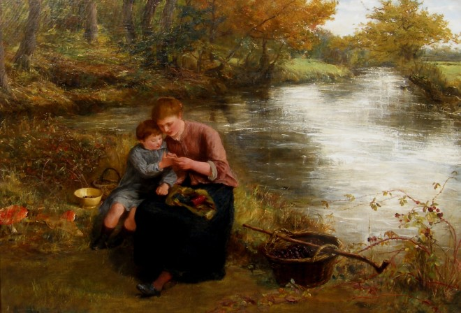 James Clarke Hook, Collecting blackberries