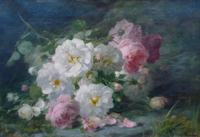Andre Benoit Perrachon, Still life of roses
