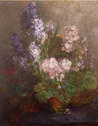 Johanna Von Destouches, Hyacinths and Primulas