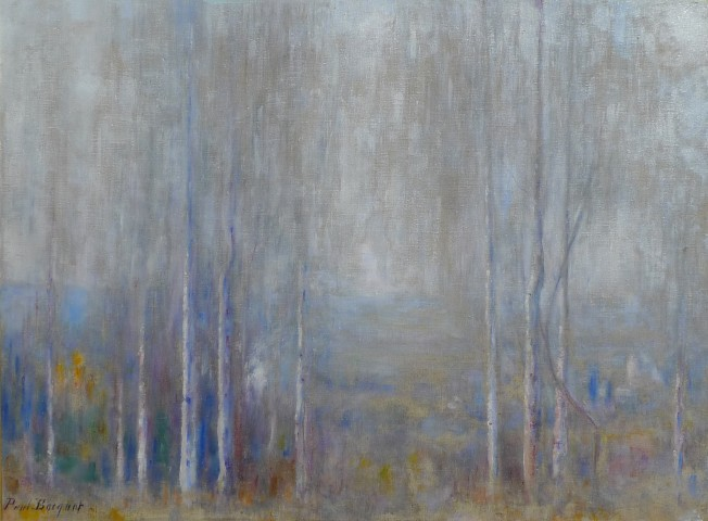 Wooded Landscape  Oil on canvas, signed  21 x 29 inches canvas size