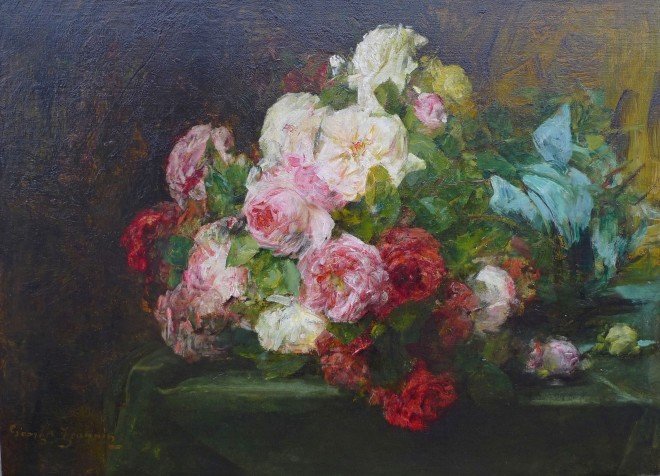 Georges Jeannin, Roses with a blue ribbon