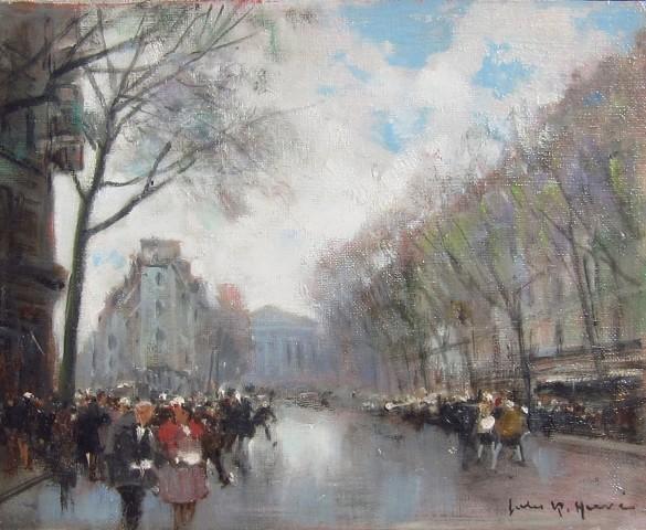 Jules René Hervé, Parisian street scene