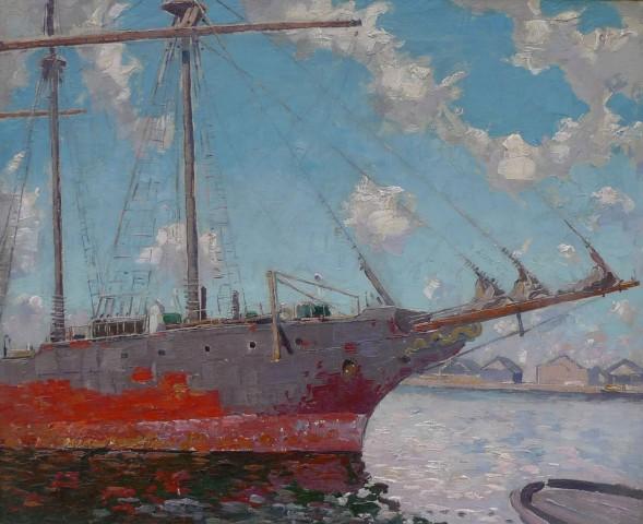 Norman Lloyd, Study of a sailing boat, Moshulu