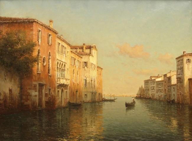 Antoine Bouvard, Venetian scene at dusk