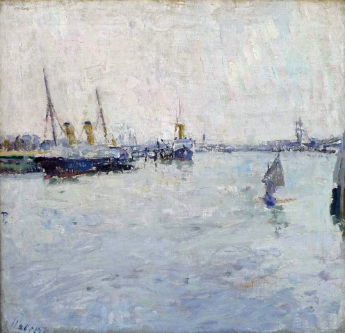 Willem Paerels, View of Amsterdam Harbour