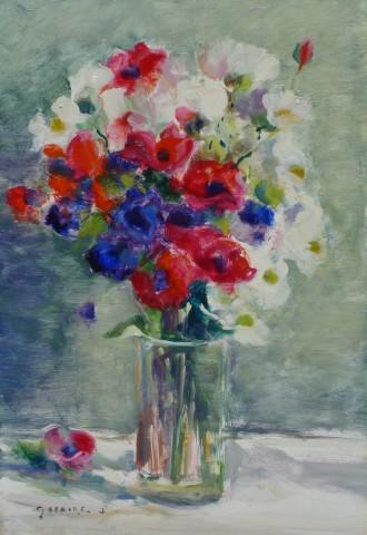 Gaston Sebire, Still life of flowers