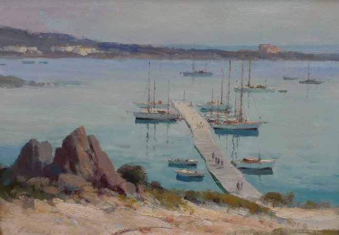 Edward Seago, The Pontoon, Porto Cervo, Sardinia