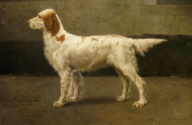Charles Van Den Eycken, Pair of dog portraits (II of II) , 1885