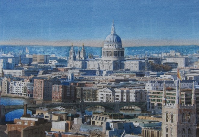 Jonathan Pike, St. Paul's from Southwark