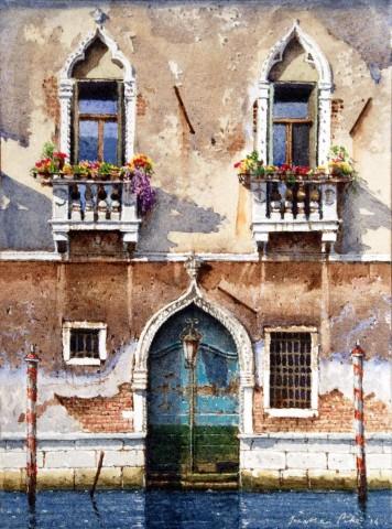 Jonathan Pike, Two Balconies, San Marco, 2016