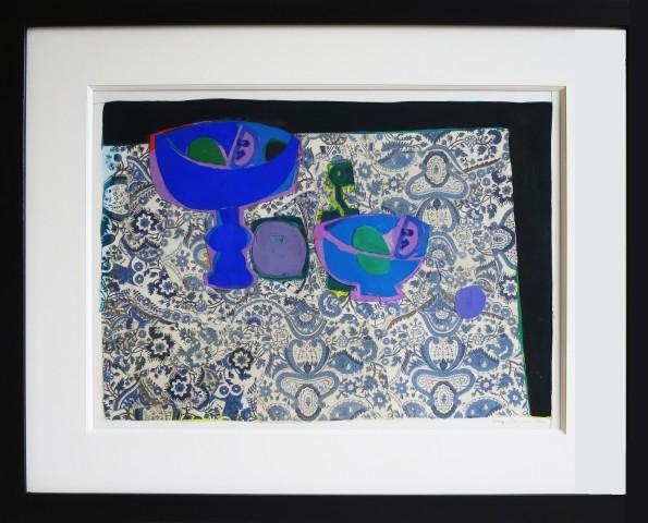 Roger Bezombes, Blue Still Life on Persian Ground