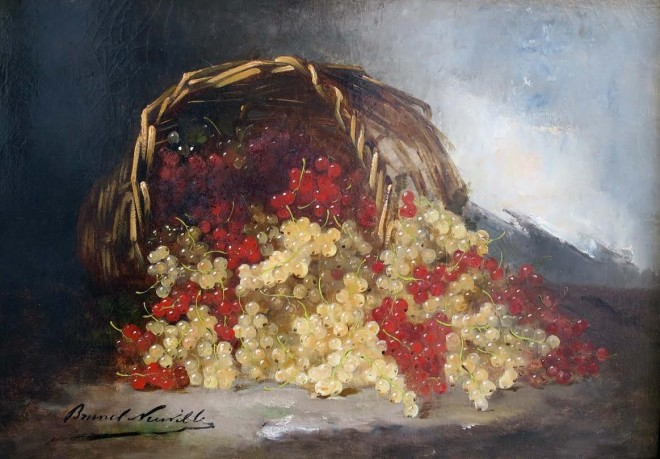 ALFRED-ARTHUR BRUNEL DE NEUVILLE, Still Life of Red and White Currants in Basket