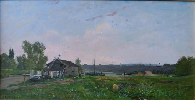 Hippolyte Camille Delpy, River Landscape, 1895