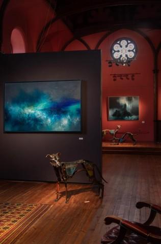 Kirstie Cohen and Helen Denerley in Kilmorack Gallery, July 2019