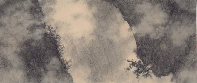 Li Huayi, Antique-like Beauty Between Cliffs, 2012
