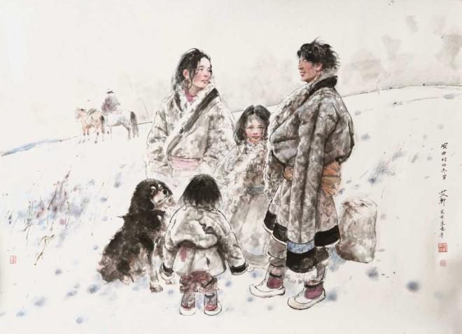 Snowy Winter in Anqu Village
