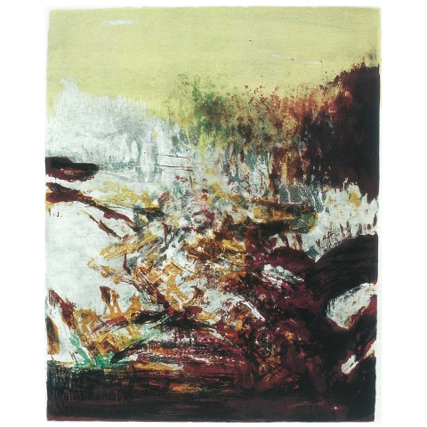 Zao Wou-Ki, Homage to Penrose, 1981