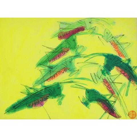 Walasse Ting, Opusculum 205, 1980s