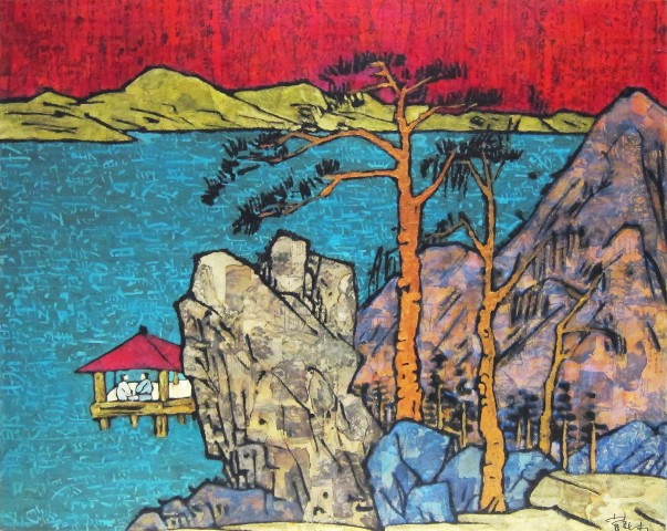 Xue Song, A Portrait of Lake and Mountain , 2009