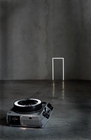 Francisco Ugarte Sin Titulo (Proyecciones a partir de piso), 2011 Projector and slides Variable dimensions (FU 002)