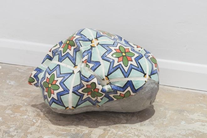 Dalila Gonçalves Kneaded Memory, 2016 Cement and ceramics 26 x 35 x 40 cm (DG011)
