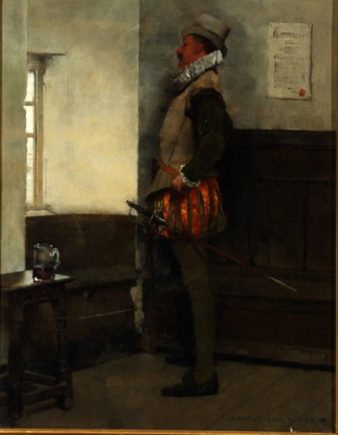 Albert Chevallier Tayler, Swordsman at a Window, 1888
