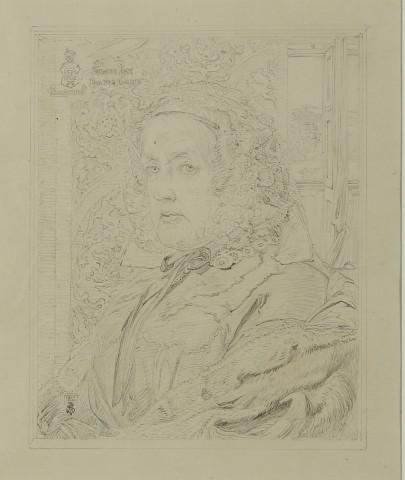 SUSANNA ROSE: pencil study for the oil portrait