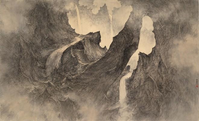 Li Huayi, Immortal Mountain – Pureland Streams, 2014
