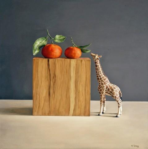 Giraffe with Tangerine